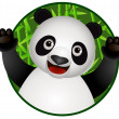 Panda cartoon — Stock Vector