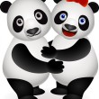 Panda couple — Stock Vector