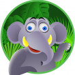 Elephant cartoon — Stock Vector