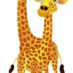 Giraffe couple cartoon — Stock Vector