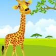 Giraffe cartoon — Stock Vector