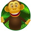 Stock Vector: Chimpanzee cartoon