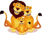 Lion-familie — Stockvektor