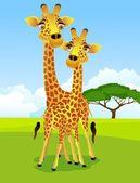 Coppia di giraffa — Vettoriale Stock