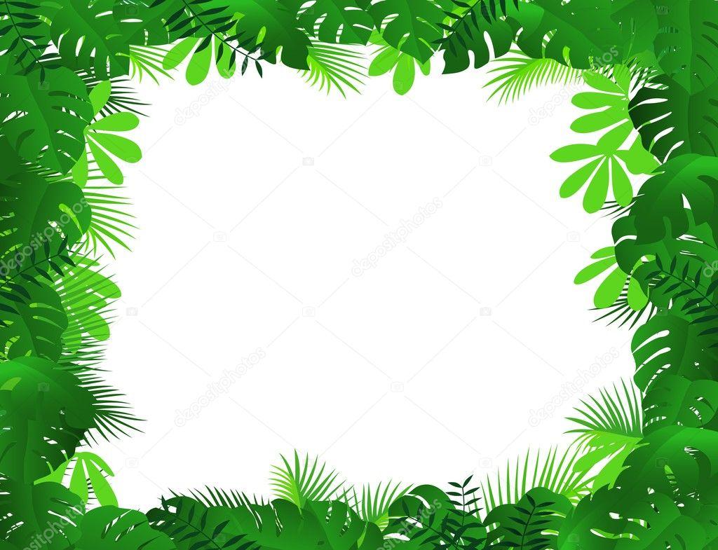热带森林背景 — 图库矢量图像08