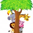Animal cartoon — Stock Vector