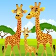 Royalty-Free Stock Vector Image: Giraffe family