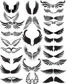 Ailes silhouette collection — Vecteur