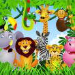 Royalty-Free Stock Obraz wektorowy: Wild animal in the jungle