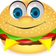 Burger cartoon character — Stock Vector #6126884