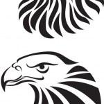 Eagle head tattoo art — Stock Vector