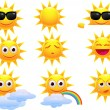 Sun cartoon — Stock Vector #6127924