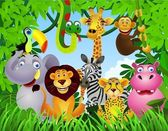 Animal sauvage dans la jungle — Vecteur