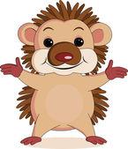 Hedgehog cartoon — Stock Vector