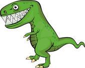 Green dinosaur cartoon — Cтоковый вектор