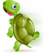 Turtle running — Stock Vector