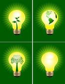 Eco bulb set — Stock Vector
