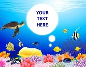Sea life illustration — Stock Vector
