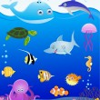 Sea life cartoon - Stock Vector