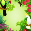 Tropical birds — Stockvectorbeeld