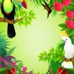 Tropical birds — Stock Vector #6258980