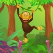 Royalty-Free Stock Obraz wektorowy: Chimpanzee cartoon