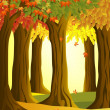 Autumn forest — Stock Vector #6380563