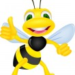 Stock Vector: Happy bee