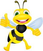 Bee happy — Vecteur