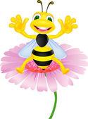 快乐蜂花上 — 图库矢量图片