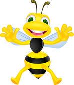 Happy bee — Stock Vector