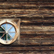 Window in wooden church - Lizenzfreies Foto
