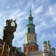 Monument and Tower City Hall in Poznan — Stock Photo #6349514