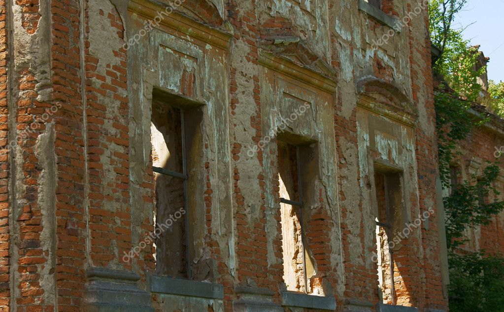 Palace in shreds, Poland  Stock Photo #6430233