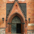 Portal in gothic cathedral church — Stockfoto