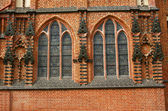 Windows in gothic cathedral church — Stock Photo