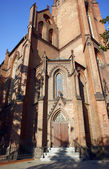 Portal of gothic church — Stock Photo