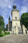 Church tower in countryside — Stock Photo