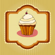 Illustration of cute retro cupcakes card — Stock Photo #5459784