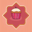 Illustration of cute retro cupcakes card — Stock Photo #5459790