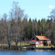 Summer house at the coast in Sweden - Stock Photo