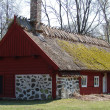 Traditional red swedish house — Stock Photo