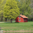 Summer house at the coast in Sweden — Stock Photo