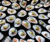 Japanese Traditional Cuisine - sushi rolls — Stock Photo