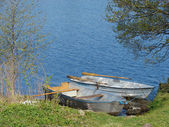 Little boats on the lake — Stock Photo