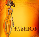 Modern fashion background with elegant stylized fashion model — Stock Photo