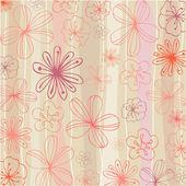 Beautiful summer floral background illustration — Stock Photo