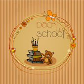 Illustrated back to school background — Stock Photo