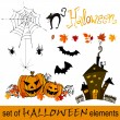 Set of cute Halloween elements — Stock Photo