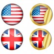 Royalty-Free Stock Vector Image: Flag sticker.Vector